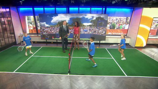 Laila Ali and Willie Geist Face Off…in Tennis