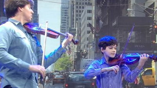 11-year-old Violin Star Gets Surprised by His Idol