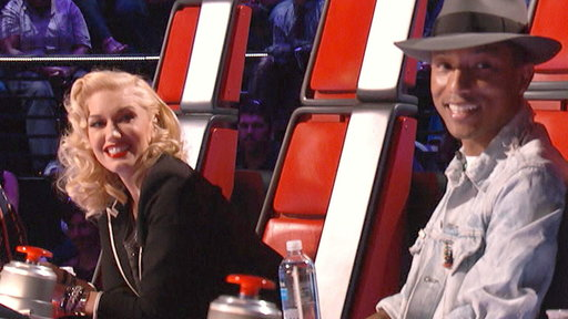 Gwen and Pharrell On Joining the Voice