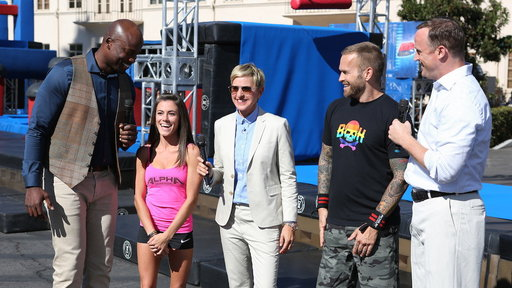 Ellen Goes 'American Ninja Warrior'!