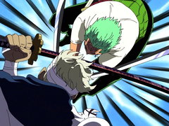 (Sub) Slashes Dancing On the Rooftop!! Zoro vs. Ryuma's Showdown image