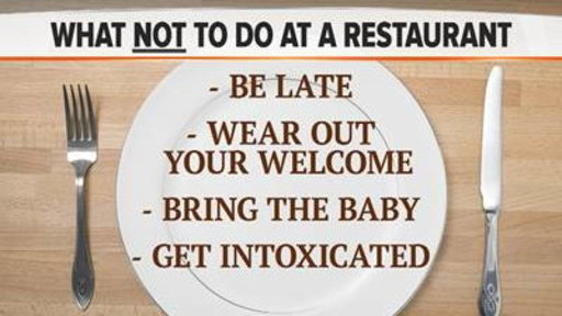 What Not to Do at a Restaurant