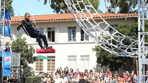 Usher Becomes an American Ninja Warrior