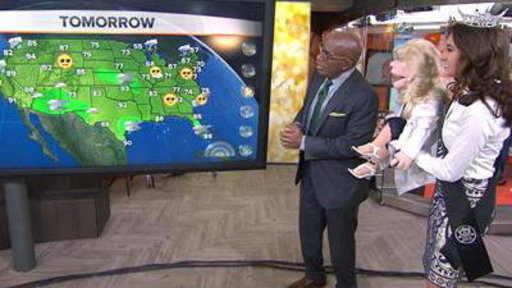 Miss Ohio, Roxy the Puppet Do the Weather With Al