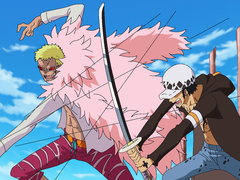 (Sub) A Showdown Between the Warlords! Law vs. Doflamingo! image
