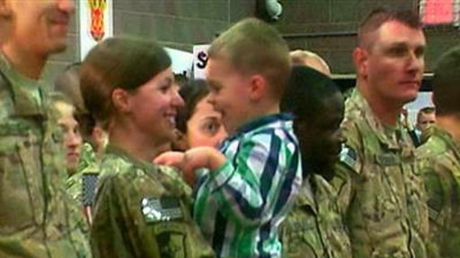 Minnesota Soldier Has Emotional Reunion With Son