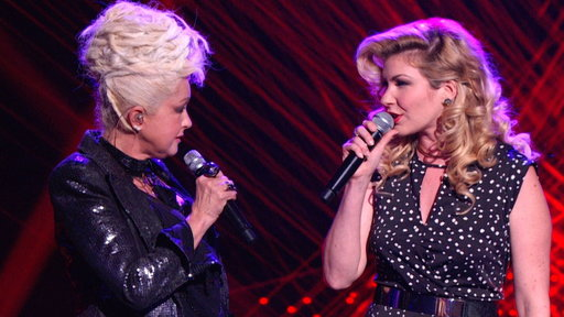 Emily West and Cyndi Lauper: