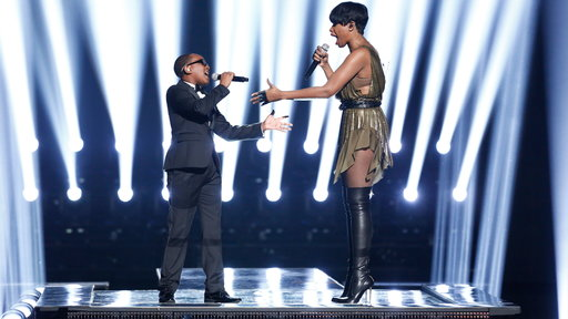 Quintavious Johnson and Jennifer Hudson