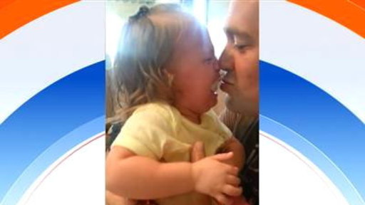 Dad Shaves Beard During 'Peekaboo,' Baby Freaks Out