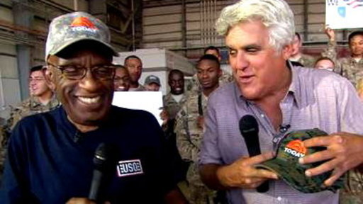 Al Roker, Jay Leno Crack up TODAY During USO Tour
