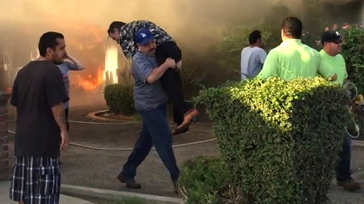Hero Saves 73-year-old Victim from California House Fire