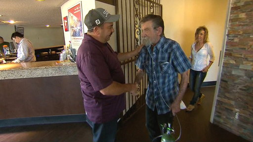 Rescuer Meets Man He Saved from Burning House