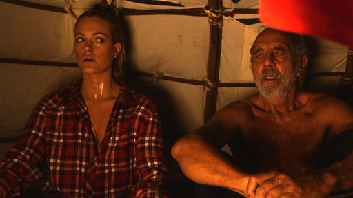 Tommy and Peta in the Sweat Lodge
