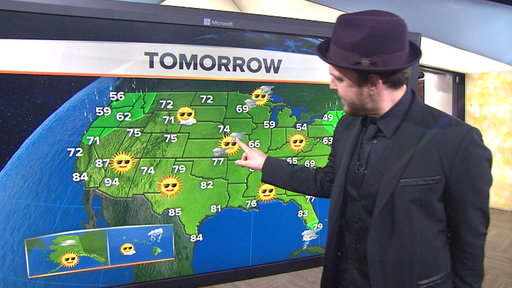 Gavin DeGraw Does the Weather With Al Roker