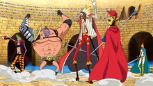 One Piece 668: The Final Round Starts! Diamante the Hero Shows up!