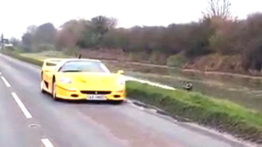 Watch: Wakeboarder Trails Behind Ferrari at 80 Mph