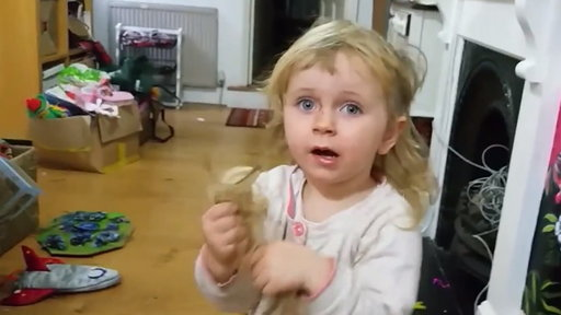 Toddler Cuts Hair in Hilarious Confession