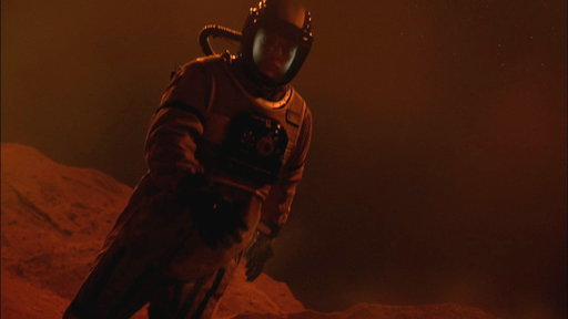 Castle Runs Around in a Space Suit