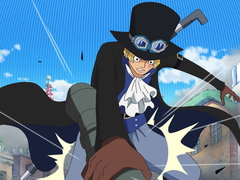 (Sub) A Big Collision! Chief of Staff - Sabo vs. Admiral Fujitora! image